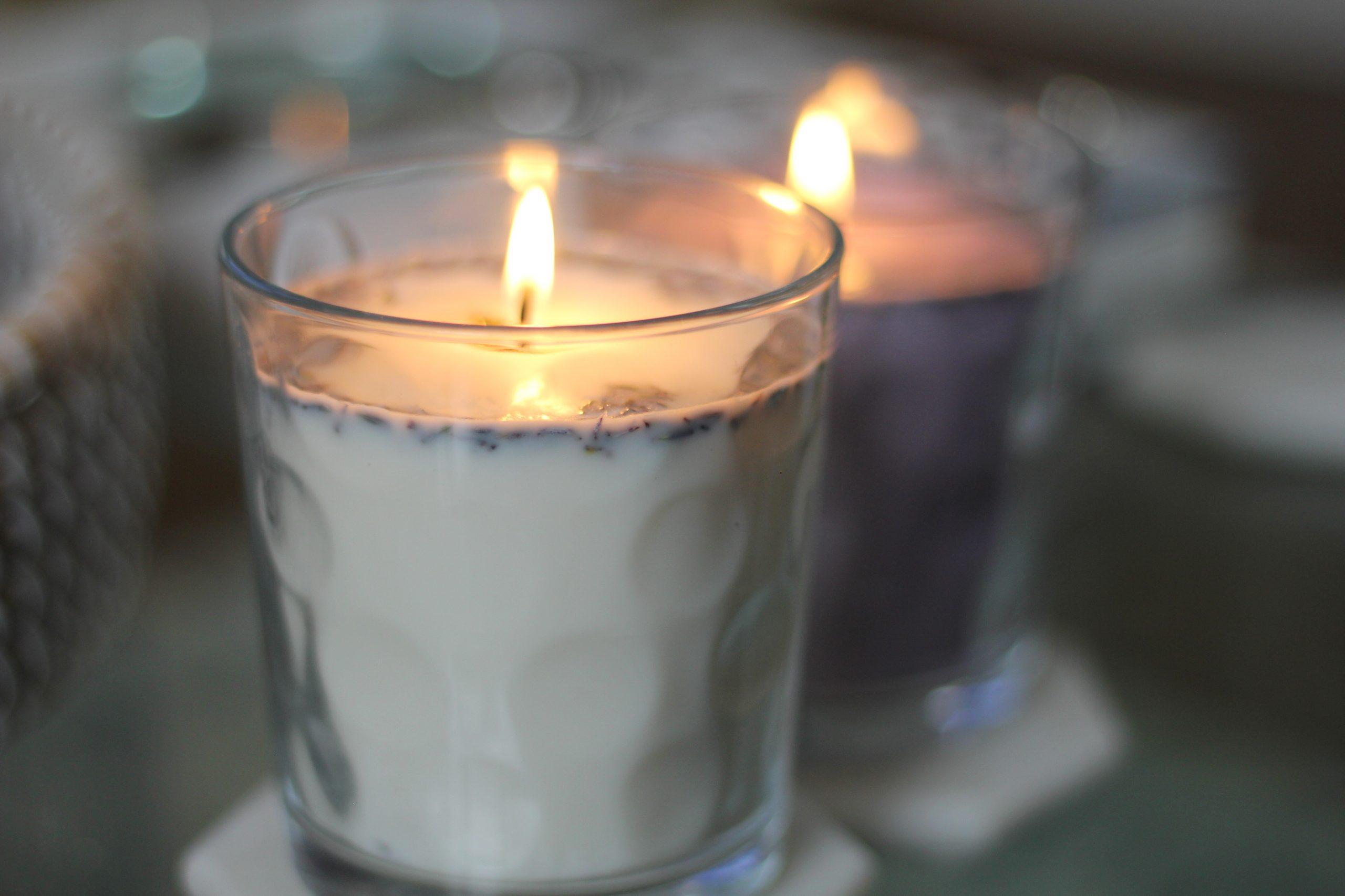 DIY Lavendar Candle