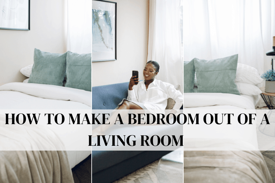 how to make a bedroom out of a living room
